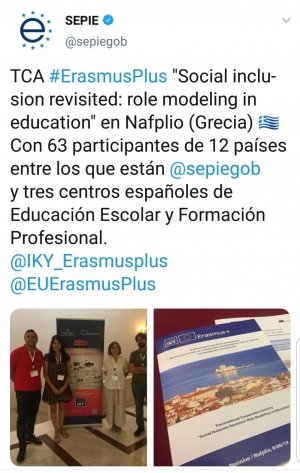 "TCA #ErasmusPlus ""Social inclusion revisited: role modeling in Education"""